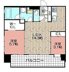 エンクレストGRAN博多駅前(1101)[1101号室]の間取り