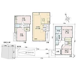 東京メトロ丸ノ内線 新高円寺駅 徒歩7分 2SLDKの間取り