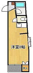 サンピエール菅原II 3階ワンルームの間取り