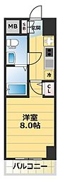 No77 HANATEN 001[9階]の間取り