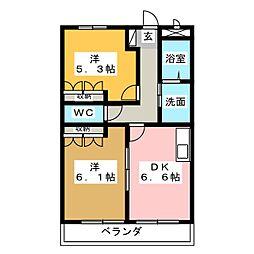 エバープレイス B棟[1階]の間取り