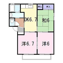 エコーズユタカ[A202号室]の間取り