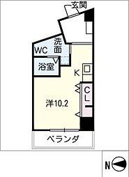 plusM MOTOYAMA 2階ワンルームの間取り