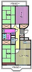 開明ロイヤルマンション[4階]の間取り
