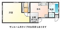 藤ヴァレイII[1階]の間取り