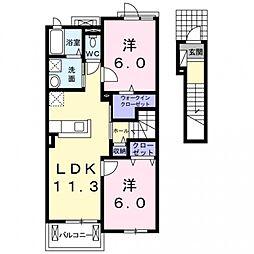 グランアンジュ1[2階]の間取り