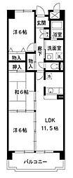 グランボナール[3階]の間取り