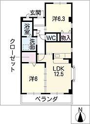 ドゥーフレール加藤[2階]の間取り