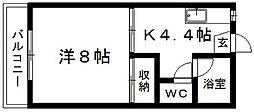 ドミールヨシダ[2階]の間取り