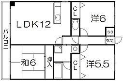 ロックフィールド[11階]の間取り