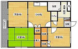 広島県広島市安佐南区伴東1丁目の賃貸アパートの間取り