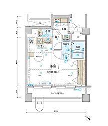 神奈川県横浜市中区相生町2丁目の賃貸マンションの間取り