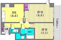 プレザン新神戸[4階]の間取り