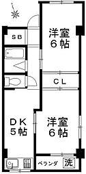 東京都板橋区高島平5丁目の賃貸マンションの間取り