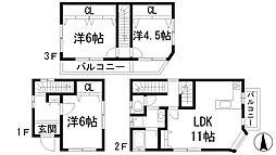 [一戸建] 兵庫県宝塚市南ひばりガ丘3丁目 の賃貸【/】の間取り