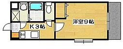万葉ガーデン[2階]の間取り