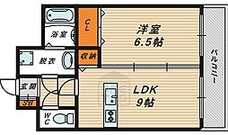 Osaka Metro今里筋線 鴫野駅 徒歩7分の賃貸マンション 5階1LDKの間取り