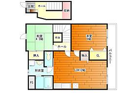エテルネルB棟[2階]の間取り
