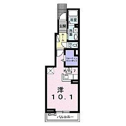 プラシ−ド コルソ[1階]の間取り