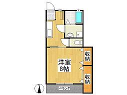 福岡県八女市室岡の賃貸アパートの間取り