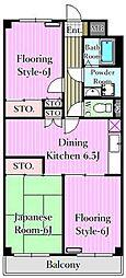 グレースマンション2[8階]の間取り