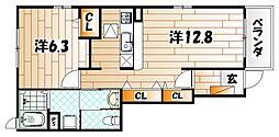 フィーノヴィラIII[1階]の間取り