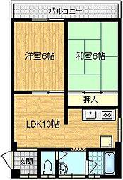 菅北ハイツ[3階]の間取り