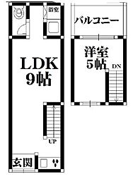 赤川3-8-5 貸家 2階1LDKの間取り