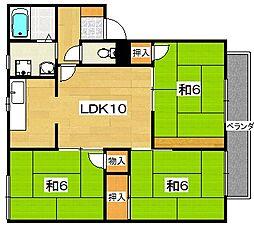 リラハイツ[2階]の間取り