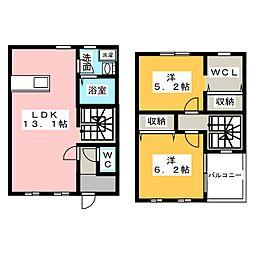 [テラスハウス] 愛知県江南市宮後町砂場北 の賃貸【愛知県 / 江南市】の間取り