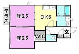 ソレアードA棟B棟[B102 号室号室]の間取り