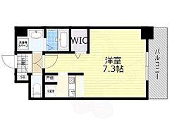 SOAR SHINNAGATA 6階ワンルームの間取り