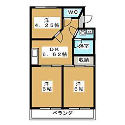 ビレッジKR−5[2階]の間取り