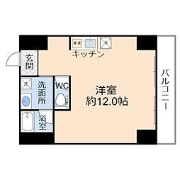 JO-KITA TERRACE 5階1Kの間取り