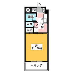 TOUEN BLDG[8階]の間取り