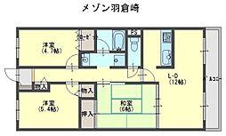 メゾン羽倉崎[1階]の間取り