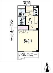ヴィラ桜の丘[2階]の間取り