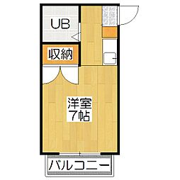 フローラルピンク[3-B号室]の間取り