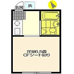 フラット町田[206号室]の間取り