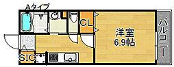 メゾン聖天坂[1階]の間取り
