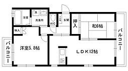 ビミー武庫川[202号室]の間取り