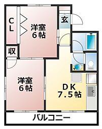 第1仲村マンション[3階]の間取り