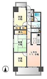 ライオンズマンション岩塚第2[1階]の間取り