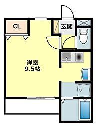 愛知県岡崎市康生通東1丁目の賃貸マンションの間取り
