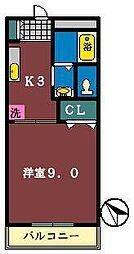 エクシードM[102号室]の間取り