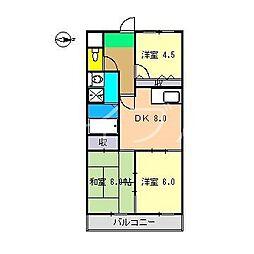 エリジアハイツ桟橋[2階]の間取り