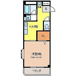 メゾンドクレール[3階]の間取り