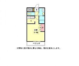 愛知県一宮市常願通6丁目の賃貸アパートの間取り