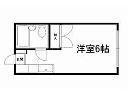 ユートリーハイツ[2階]の間取り
