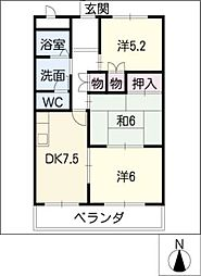 エスポワール藤塚[3階]の間取り